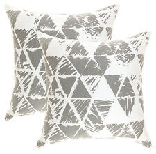 TreeWool Pack of 2 Cotton Canvas Ikat Triangle Geometric Accent Decorative 45 X