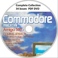 COMMODORE magazine COMPLETE COLLECTION on DVD all 34 issues! Amiga, C64 computer
