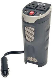 Tripp Lite Car Inverter Cup HOlder 200W 12V Dc to 120V AC, 2 USB Cigarette Adptr