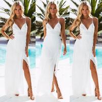 Women's Boho Floral Short Sleeve Long Maxi Dress Party Beach Sundress Summer