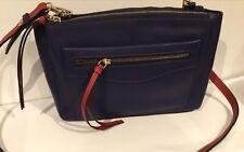 Amanda Lamb Two Tone Small Leather Multi Compartment Bag - Navy
