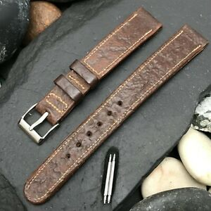 """Rare 1940s 9/16"""" Caribbean Shark Hand-Rolled Edge nos Vintage Watch Band"""