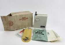 Vtg Latah Wall Heat Detector Fire Sound Freon Alarm New In Box Instructions Mcm