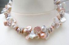 Collares y colgantes de joyería con perlas multicolor perla