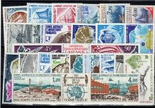 TAAF: SERIE COMPLETE DE 24 TIMBRES P.A. NEUF** N°37/60 Cote: 189,85€