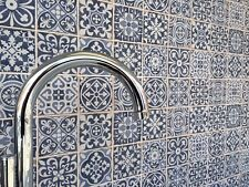 Feza Blue Patchwork Vintage Moroccan Victorian Style Wall & Floor Tiles