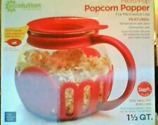 Ecolution Micro-Pop 1.5 Quart Microwave Popcorn Popper - RED - HEALTHY POPCORN