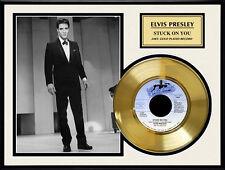 """ELVIS PRESLEY - STUCK ON YOU 7"""" GOLDENE SCHALLPLATTE"""