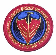 """Halo UNSC Spirit Of Fire 4"""" Wide Embroidered Iron On Patch"""