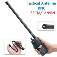 CS Tactical Foldable Antenna BNC VHF UHF For Kenwood Icom TK308 Two Tay Radio