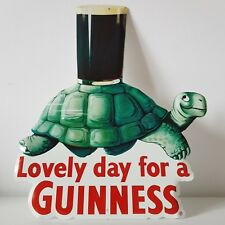 VERITABLE PLAQUE METAL TORTUE GUINNESS - SOUS LICENCE - 28x36 cm