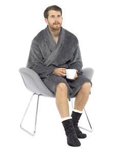 Mens Chunky Slipper Socks Non Slip Gripper Lounge Sock For Him 4.9 TOG Thermal