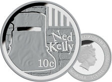 2015 10C 1/10OZ SILVER PROOF COIN NED KELLY  IN CARD. SUPERB!!!