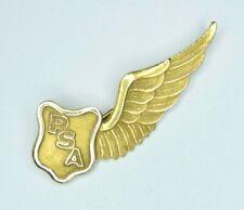 Antique Pacific Southwest Airlines PSA Flight Attendant Uniform Wings 10k Gold
