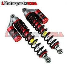 Red Gas Air Front Shocks Absorbers Set For Yamaha Banshee Yfz350 Atv Suspension
