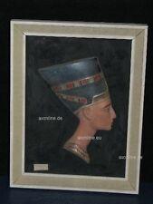 +*A013823_14 Goebel  Archivmuster, Wandschmuck Büste v. Nofretete im Bilderrahm.