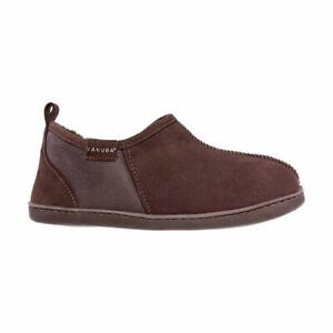 Natural Genuine Sheepskin Bootie Mens Luxury Slippers Shoes Warm  UK 7.5 / UK 12