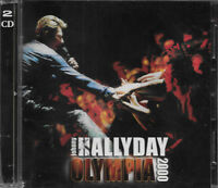 JOHNNY HALLYDAY  ALBUM  2 CD  *OLYMPIA 2000*   24 TITRES   COMME NEUF