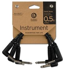 Planet Waves (By D'Addario) Classic Series Patch Lead/Cable. 3PK. Size: 6in