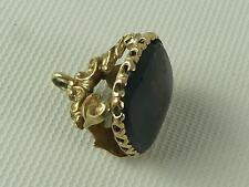 (REFCV 15) Superb Antique 9ct Gold Stone Set  Fob Watch Chain
