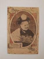 "QUEEN VICTORIA antique PAPER ephemera SCRAP cut Out SMILING 1900s 6.5"" x 4.5"""