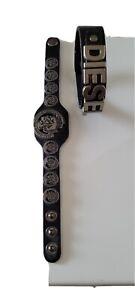 2x Lederarmband Herren Diesel schwarz / Stabiles Echtes Leder Armband top.