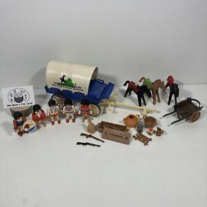 Rare Vintage Playmobil 3785 Confederate Virginian Mountain Boys Wagon Plus Exfra