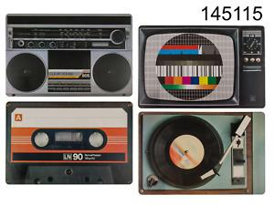 Set of 4 Nostalgic Retro Hifi Tape Placemats