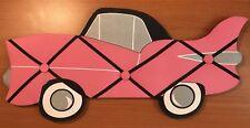 "20"" Car Shaped Pink Cadillac Photo Message Holder Padded Bulletin Board Rare"