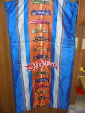 """Hot Wheels Blue Multi Racer Car Children's Sleeping Bag 30"""" by 54"""" with pack bag"""