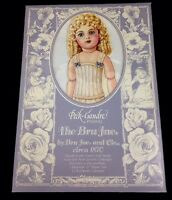 """1986 Peck-Gandre Bru Jumeau Repro Paper Doll Book Ca. 1870 12"""" Doll Uncut Sealed"""