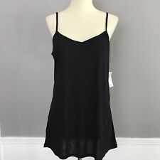 Old Navy Womens Solid Black Camisole Tank Top Size XL Spaghetti Loose VNeck NEW