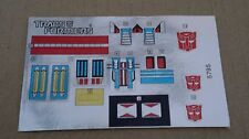 A Transformers replacement sticker/decal sheet for G1 Ultra Magnus