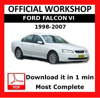 OFFICIAL WORKSHOP Manual Service Repair Ford Falcon 1998 - 2007