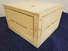 "The Maiden Wine Crate holds 6 btt size 8""x12""x13"""