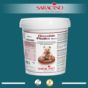SARACINO WHITE Chocolate Modelling Paste Cake Decorating Sculpting Cakes 1kg