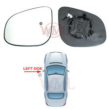 RENAULT KANGOO 2013->2017 DOOR MIRROR GLASS SILVER CONVEX,HEATED & BASE,LEFT