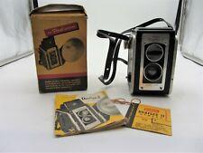 Vintage Kodak Duaflex Ii Twin Lens Camera with Strap, Box & Instructions
