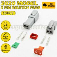 10* Deutsch DT 2 Way Pin Male&Female Kit Electrical Connector Plug Weatherproof