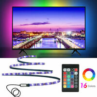 1/2/3/4/5M 5V 5050 RGB TV Backlight USB Powered LED Strip Lights +Remote Control