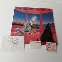 Magnum - Vigilante - Vinyl LP UK 1st Press NM + Stubs + Bob Catley Autograph