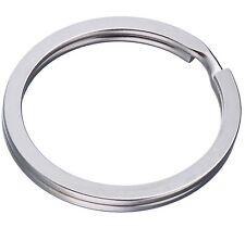 100 Schlüsselringe 30mm FLACH Schlüsselring Stahlringe Edelstahl Anhänger Design