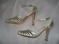MISS SIXTY UK 6 EU 39 Leather  Silver shoes