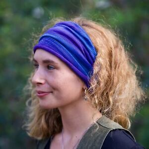 Wide Scrunch Headband Headwrap  Boho Cotton HandDyed All Tribal Colours