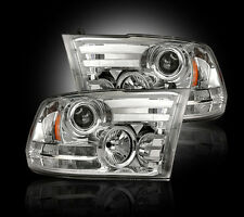 RECON Clear Projector Headlights 264276CLC 2013-2016 Dodge Ram 1500 2500 3500