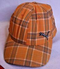 Snapback Flexfit Men's Puma Orange Plaid Fitted Hat Cap Size Large/XL