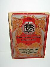 1910 Baldwin Tuthill & Bolton Saw & Knife Fitting Machinery Catalog 12 Manual