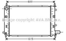 AVA COOLING SYSTEMS Radiador FD2151