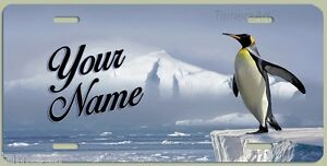 BEAUTIFUL PENGUIN ART WORK LICENSE PLATE, Personalized, Made in USA