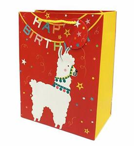Sparkling Llamas Happy Birthday Celebration Party Gift Wrapping Paper Bags 9x7x4